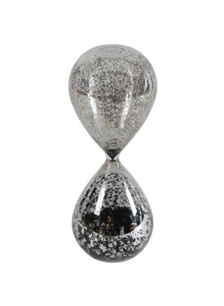 Reloj de arena negro, de vidrio mercurizado