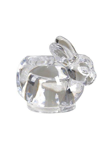 Portavelas de cristal bunny