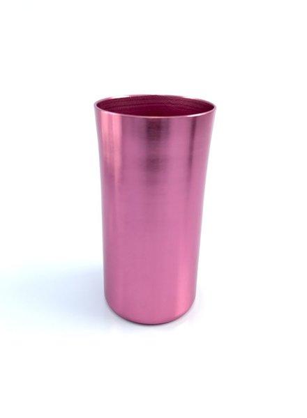 vaso jaibolero largo anonizado rosa brillante