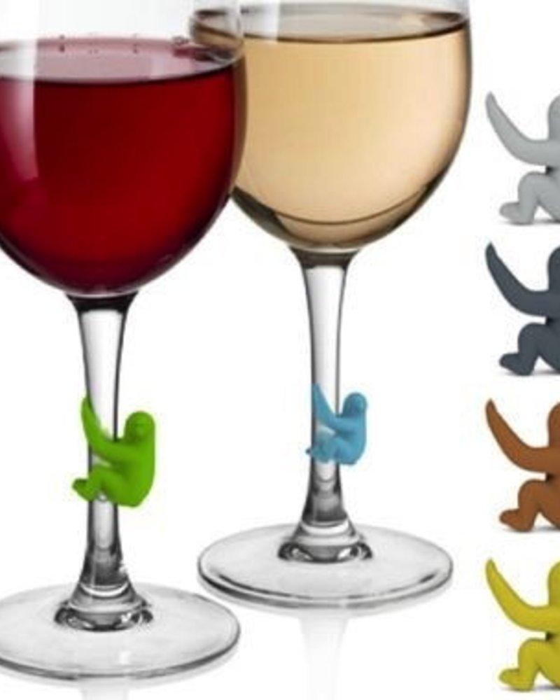 Marcadores para copas de vino con forma de osos perezoso