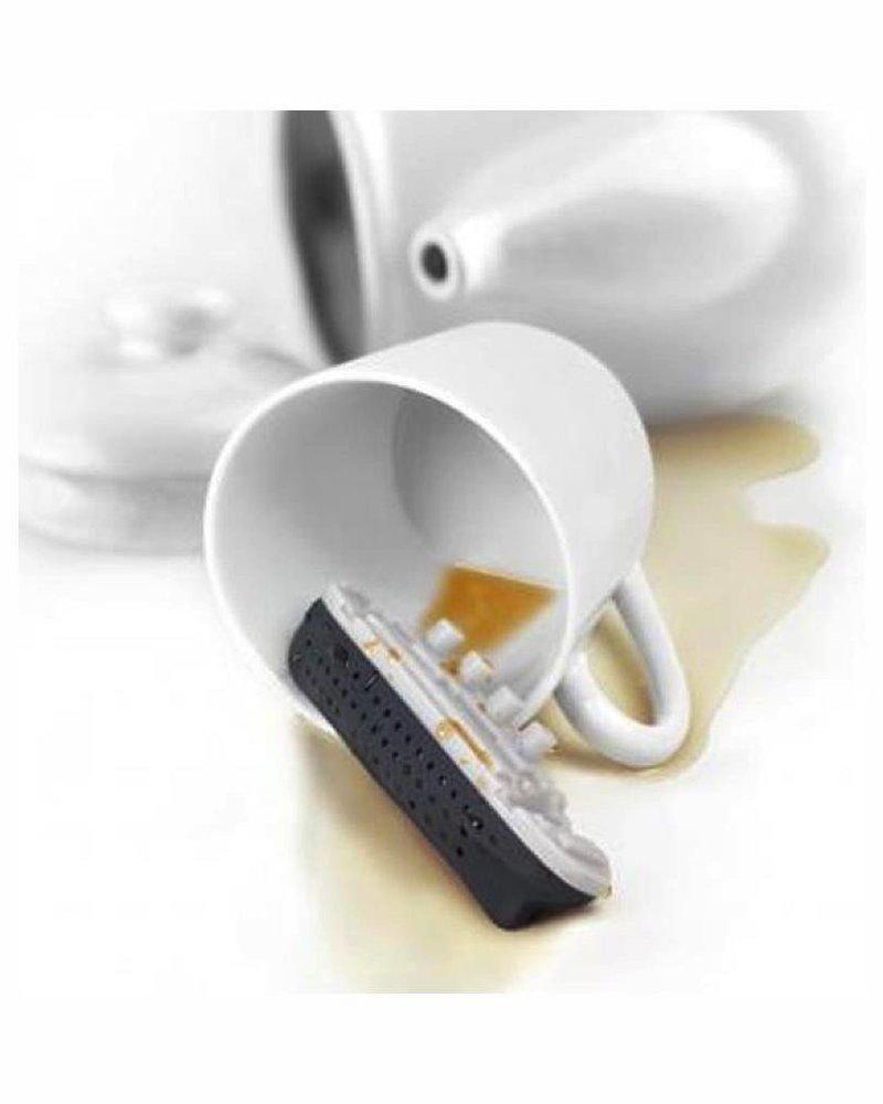 Infusor de té en forma de titanic