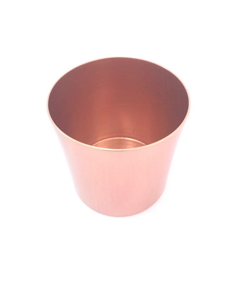 cilindro grande de aluminio anodizado color cobre brillante