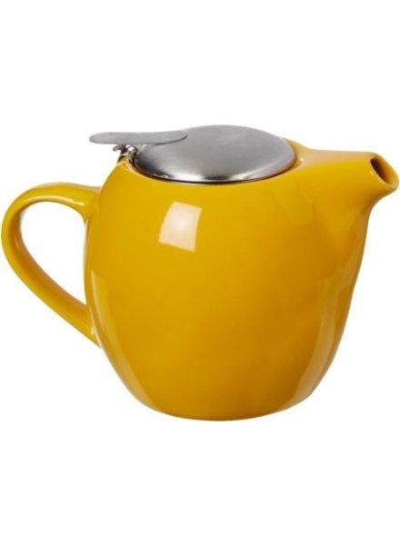 Tetera de cerámica con infusor  Amarilla 20 oz