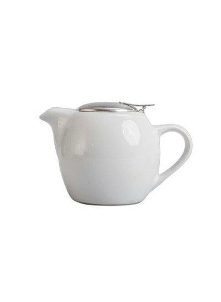 Tetera  de Ceramica Blanca con infusor 20 oz