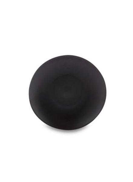 Plato ensalada negro mate stoneware