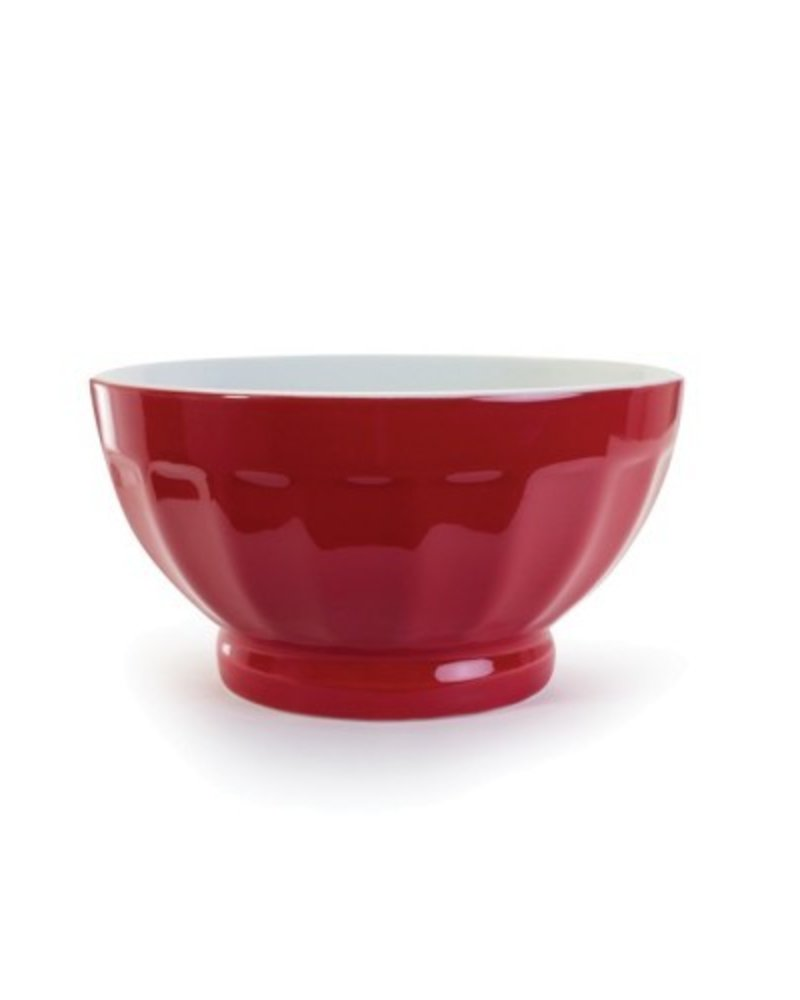 Bowl Fluted color Rojo 16oz