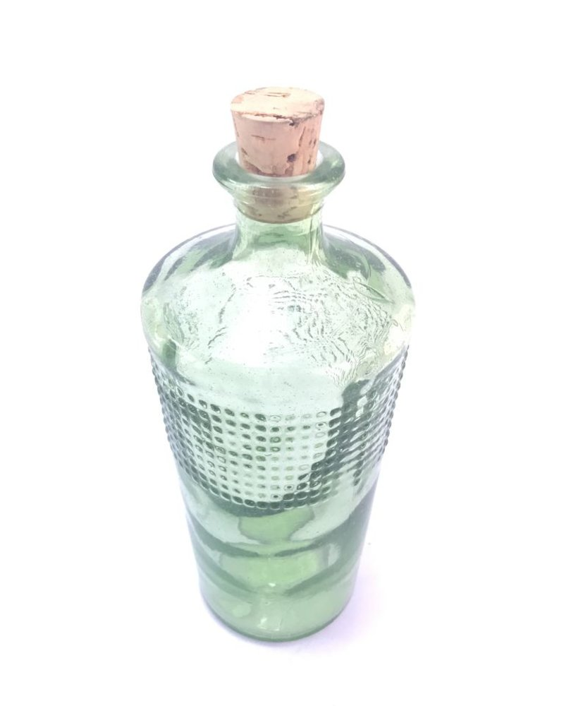 Botella mezcal entintada verde pastel