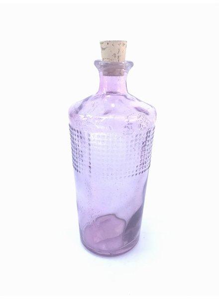Botella mezcal entintada rosa pastel o lila