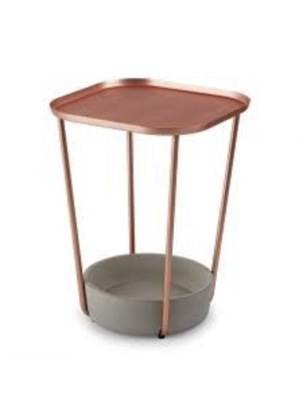 Mesa lateral  tavolo concreto y cobre