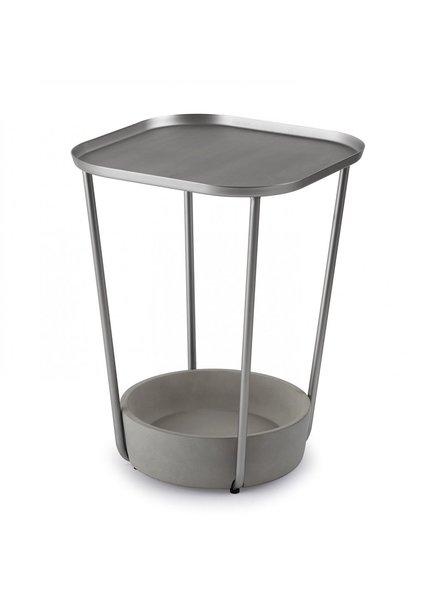 mesa lateral  tavolo concreto y plata