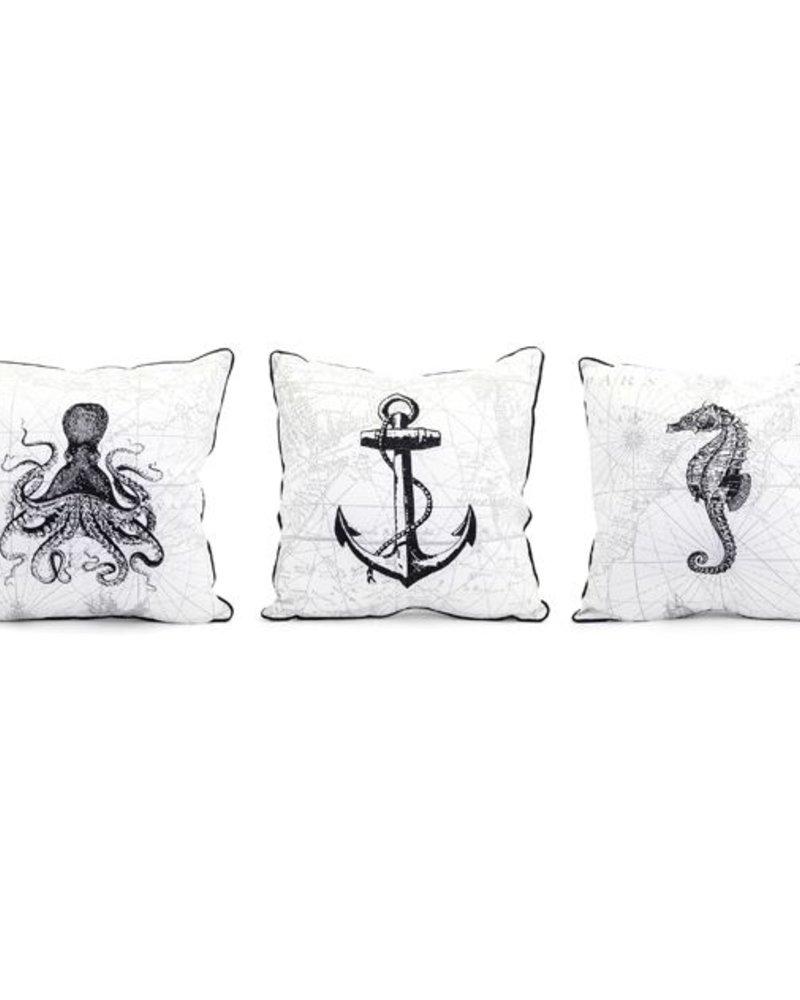 Cojin con bordado nautico 3 estilos precio unitario