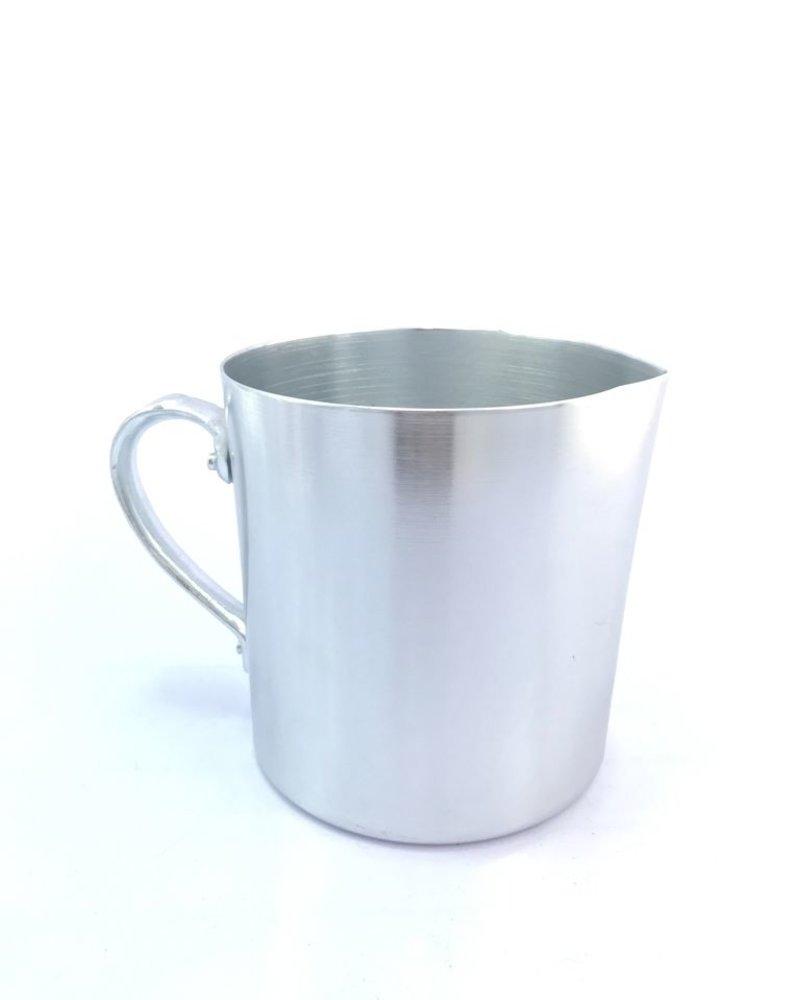 jarra tipo pocillo de aluminio anodizado color natural