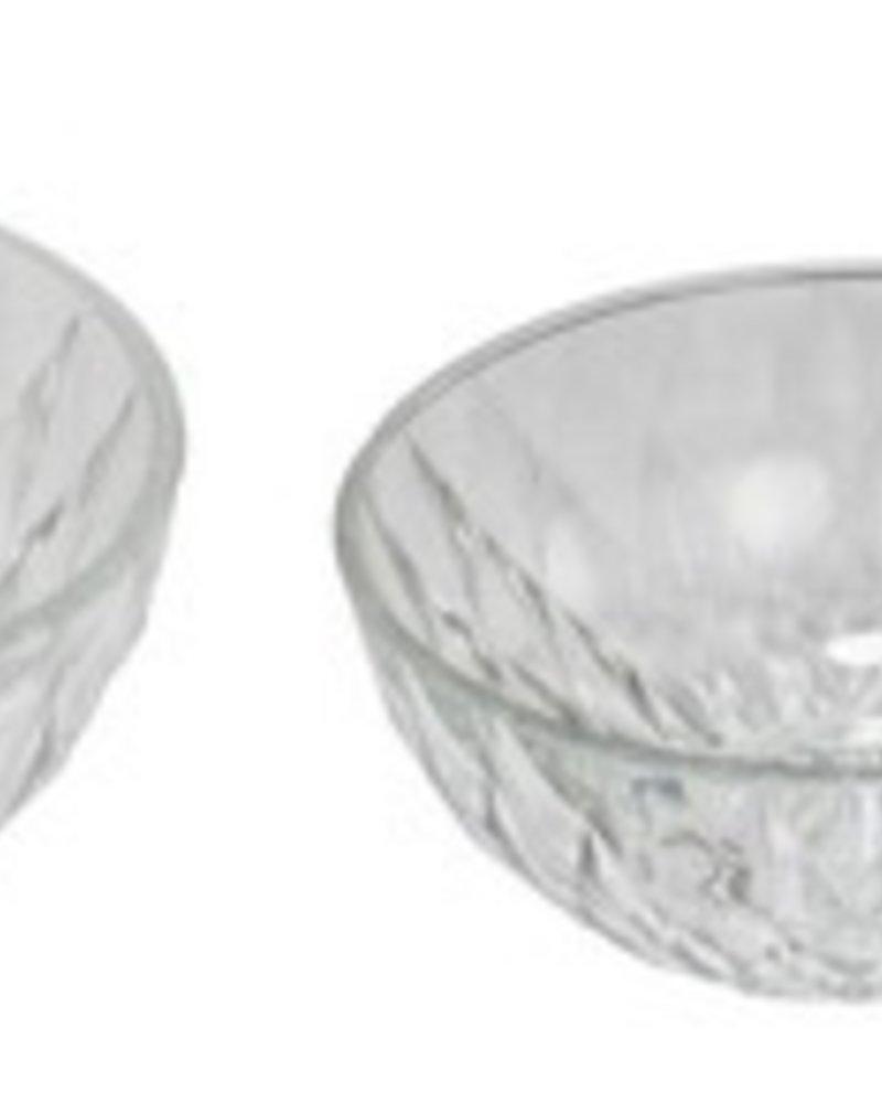 Set de 5 tazones de vidrio diamantes