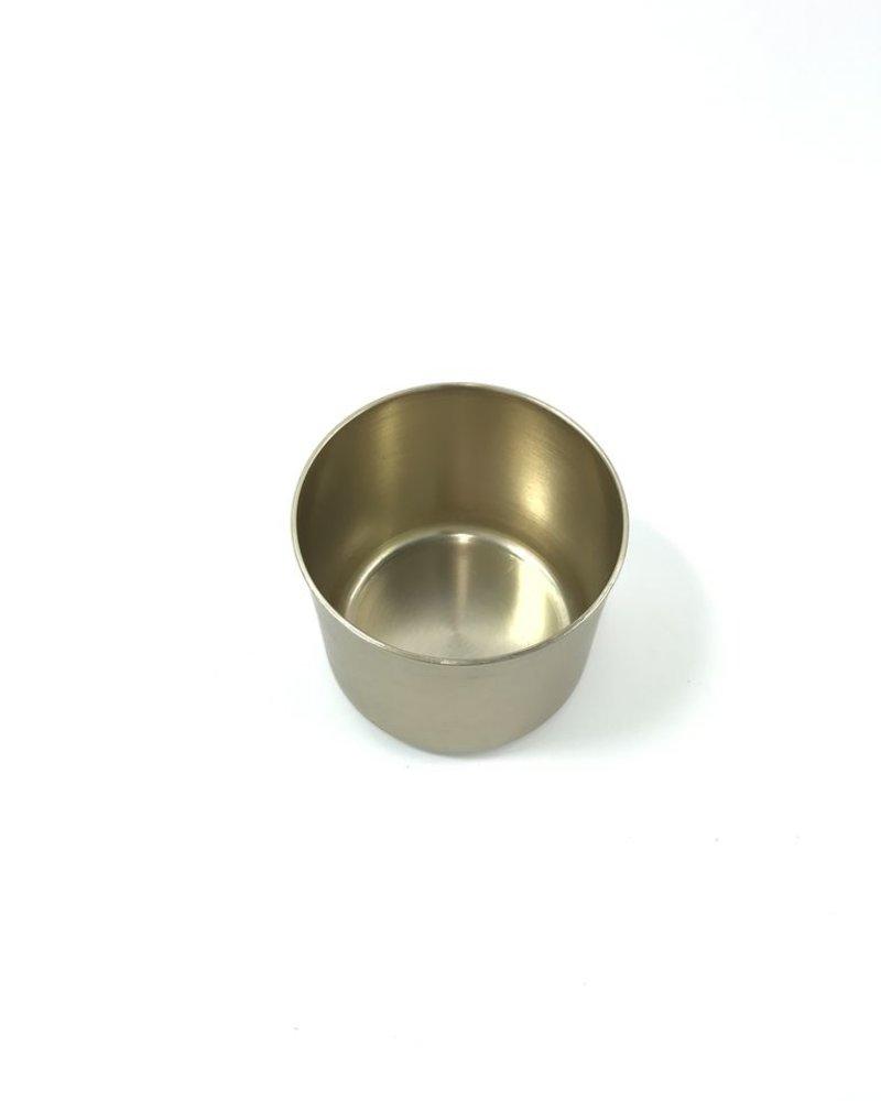 cilindro chico de aluminio anodizado latón brillante