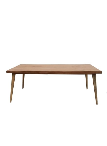 mesa de comedor chapa de parota 1.5 x 1 m