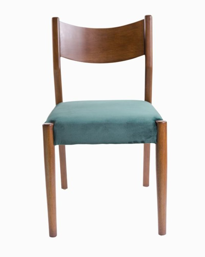 silla renoir terciopelo verde