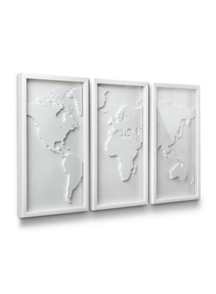Mapster decoracion de pared mapa blanco