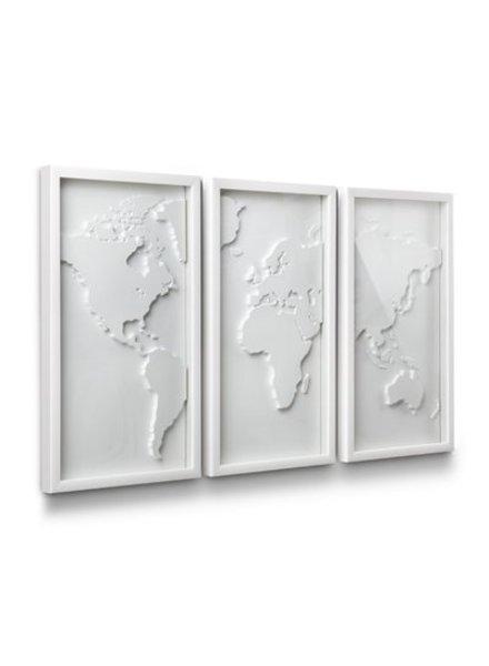 Mapster decoracion de pared mapa blanco