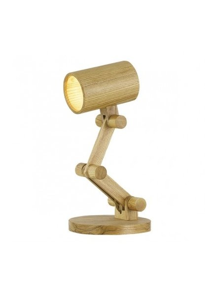 Lampara de mesa de madera