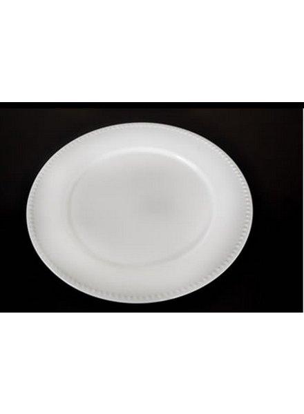 Plato Peltre No.32 Troquelado  Blanco