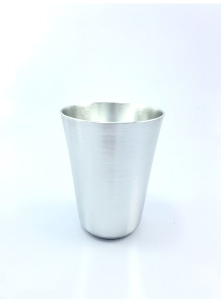 Vaso cónico grande   aluminio anodizado plata brillante