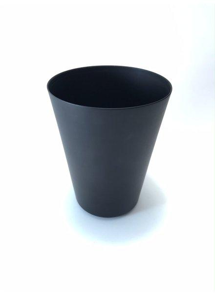 vaso cónico  grande de aluminio adonizado carbon mate
