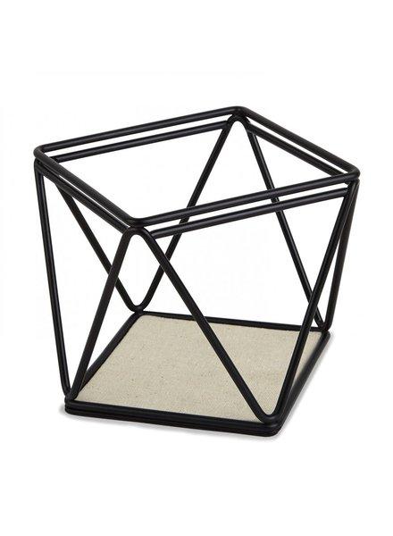 Joyero canasta  prisma negro
