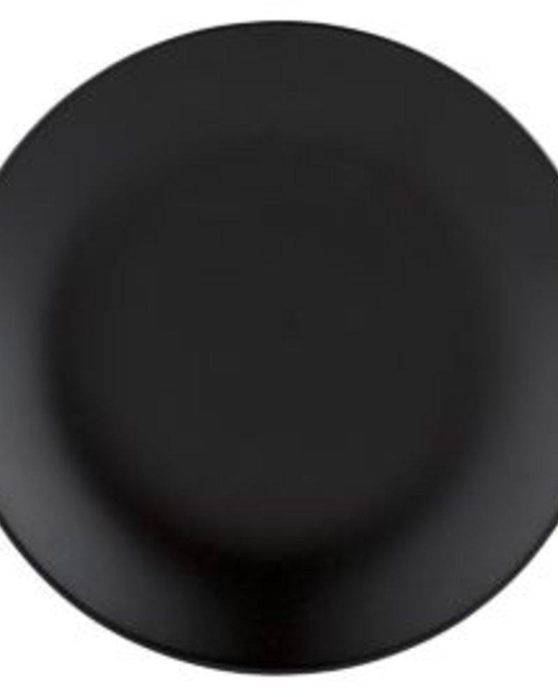 plato negro stoneware  20 cms de diámetro