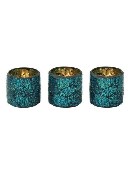 set de 3 vasos  mosaico para velas