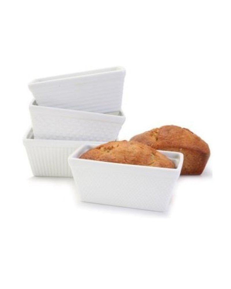 Mini Loaf de Ceramica Blanco
