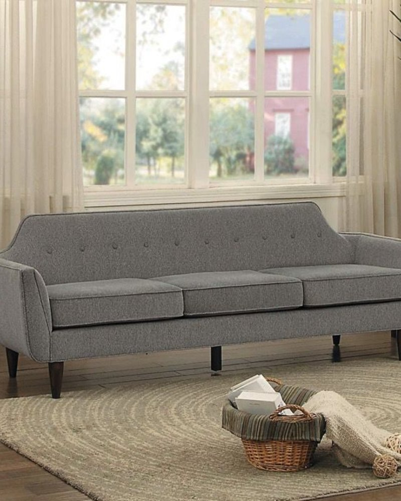 sofa minimal gris