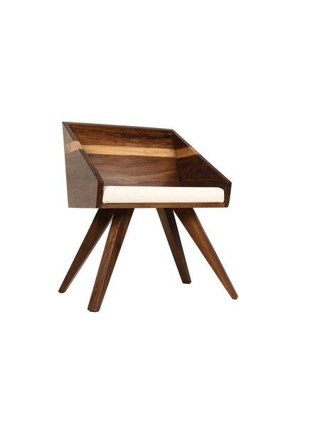 silla madera solida de parota cuadrada