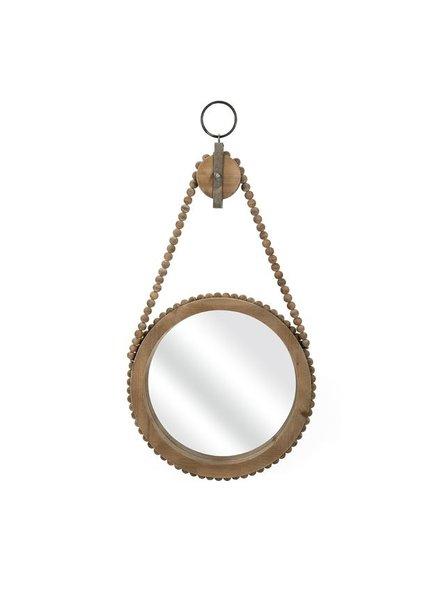 Espejo polea de madera malana