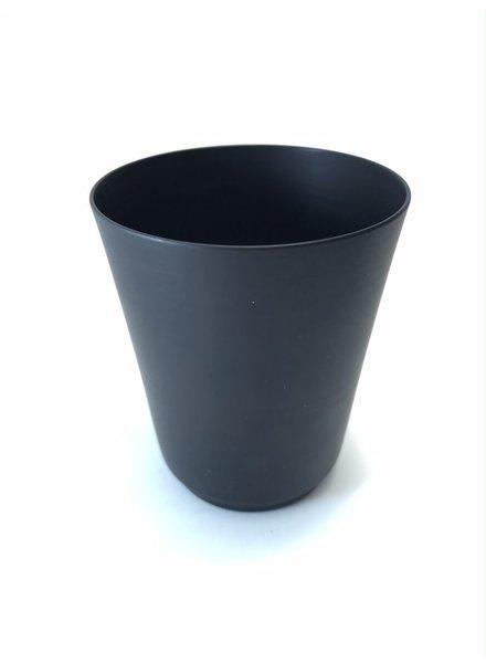 Vaso cónico de aluminio anodizado mini carbon mate