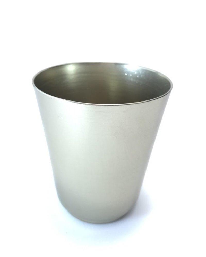 Vaso cónico de aluminio anodizado mini laton claro   brillante