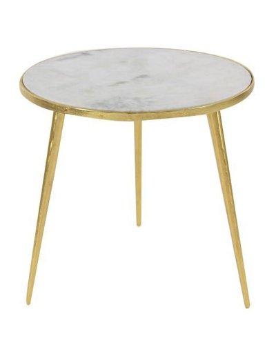Mesa de aluminio con patas doradas