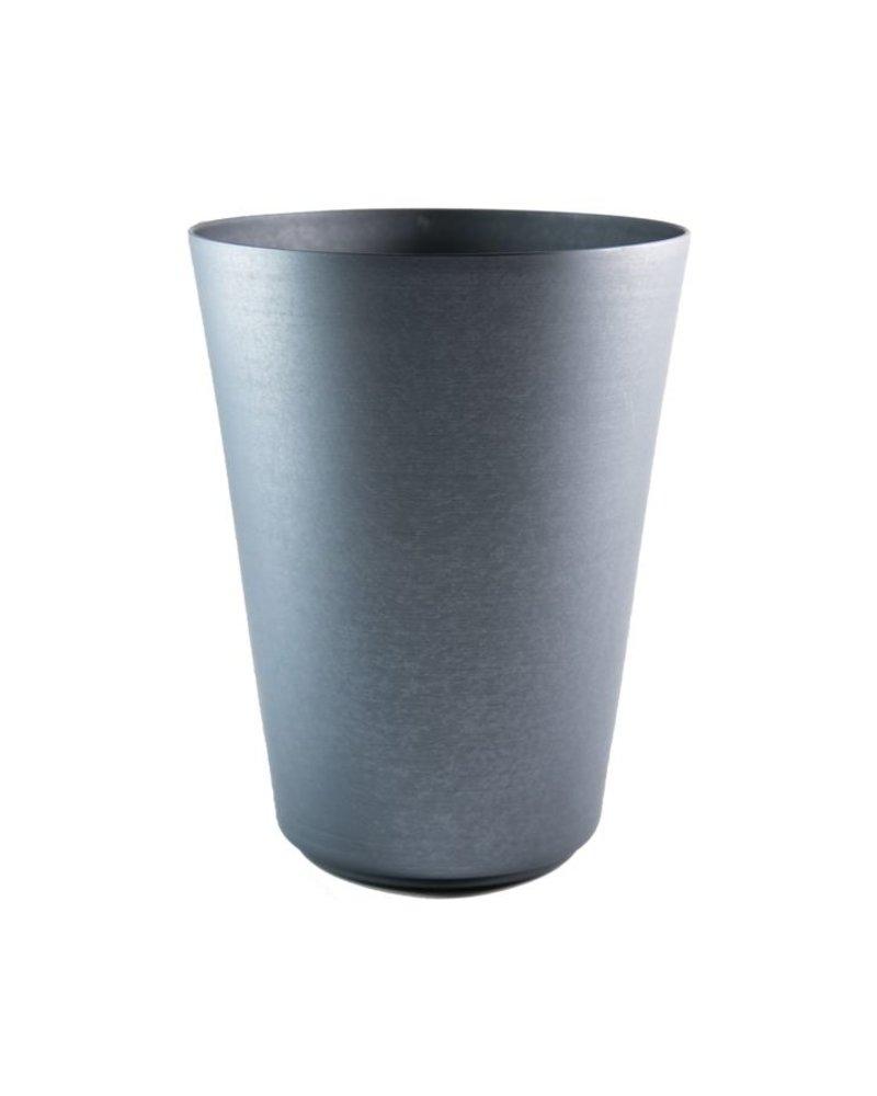 vaso cónico  grande de aluminio adonizado grafito mate