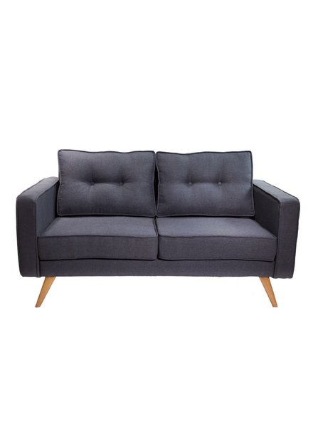 love seat Krabi color onix oxford patas de madera