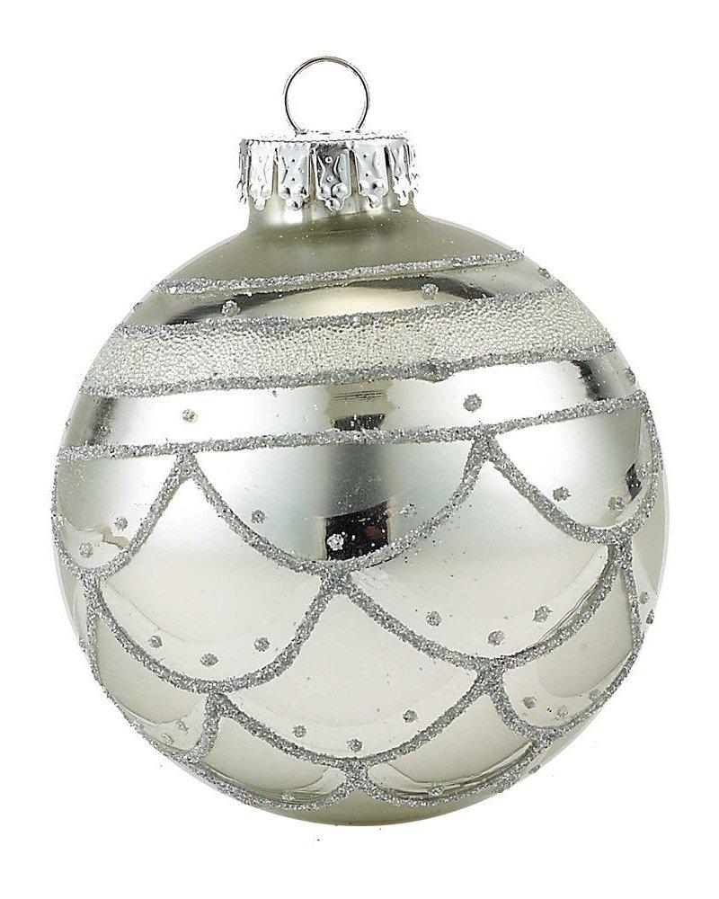 caja con 4 esferas de cristal  65mm