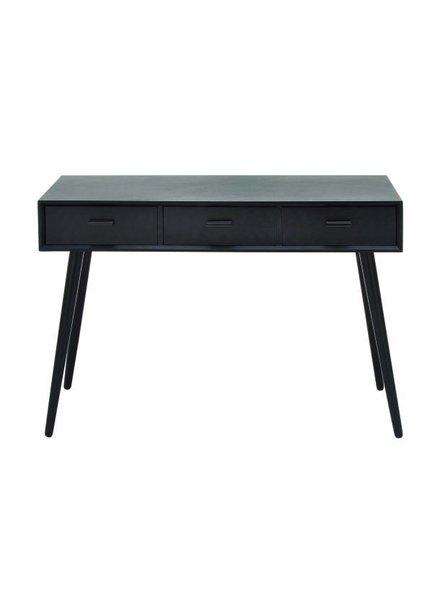 Mesa consola negra con cajonera