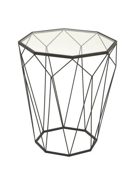 Mesa geométrica de vidrio