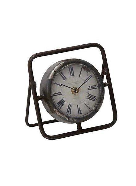 "reloj de mesa metalico 6"" de ancho 6"" de alto"