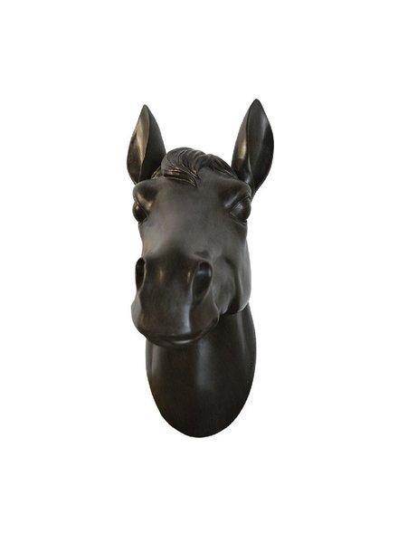 cabeza de caballo cafe mediana