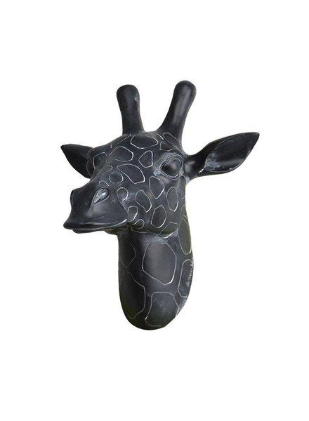 cabeza de jirafa negra grande
