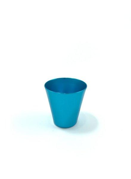 vaso shot  azul turquesa