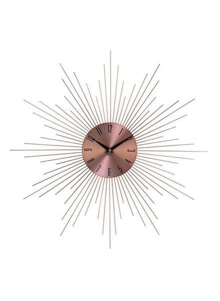 reloj de pared sunburst cobre