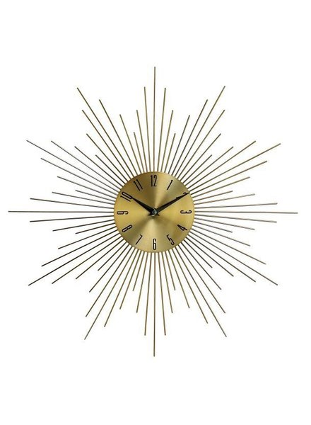 reloj de pared sunburst latón