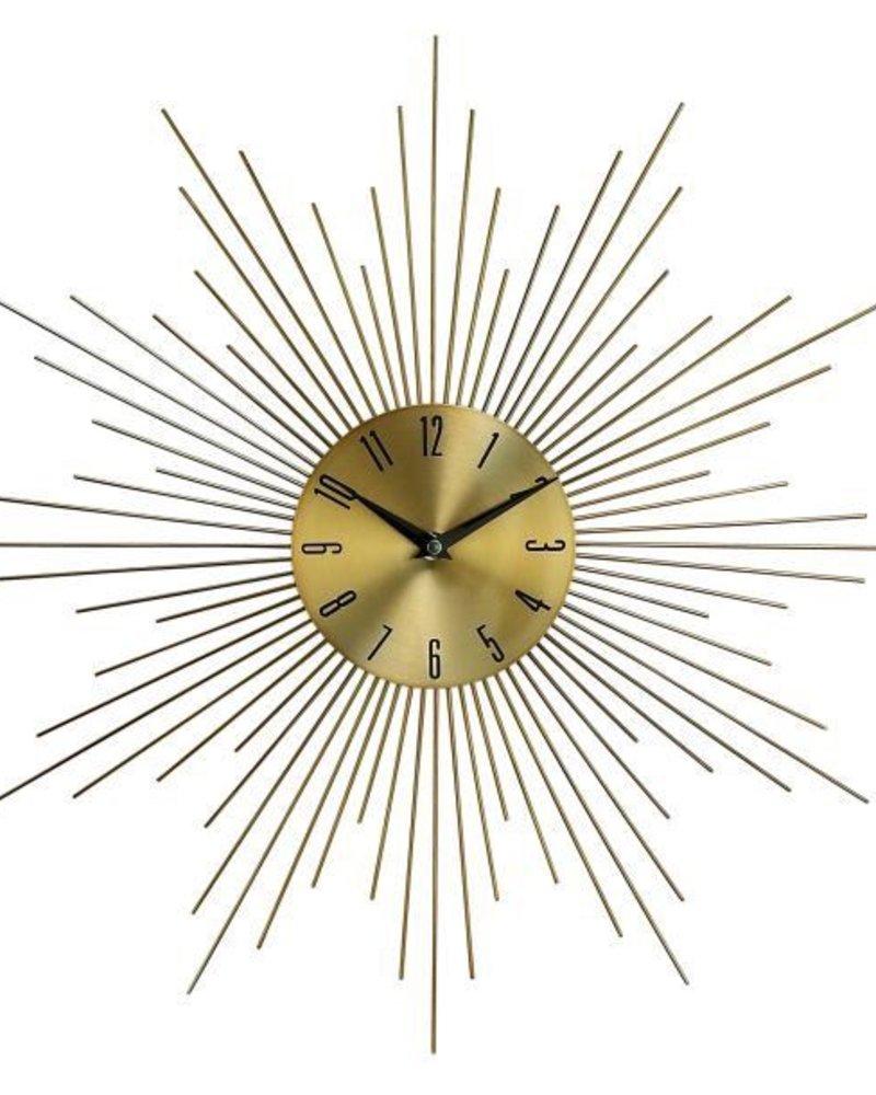 reloj de pared sunburst latón