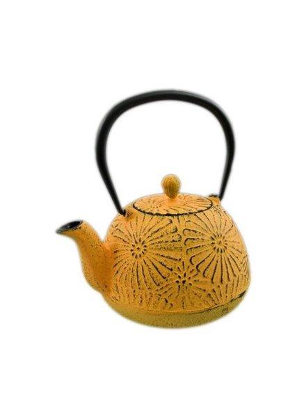 tetera japonesa de hierro fundido amarilla 24 oz
