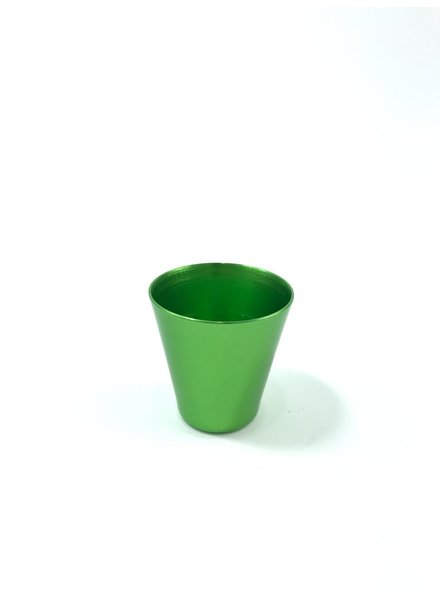 vaso shot aluminio anodizado verde limon